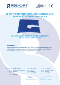 CE Declaration of Conformity - Free Ear - Ear pillow from REBACARE®